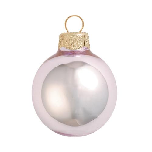 """Shiny Baby Pink Glass Ball Christmas Ornament 7"""" (180mm) - IMAGE 1"""