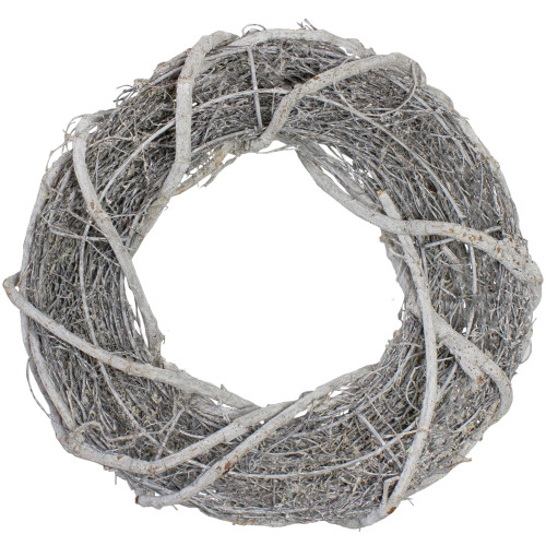 """13.5"""" Rustic White Twig Artificial Christmas Wreath - Unlit - IMAGE 1"""
