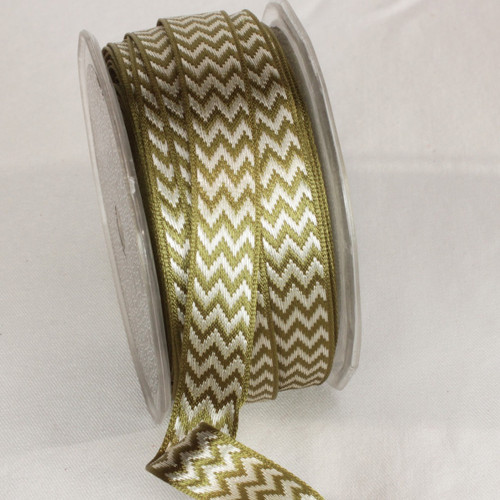 """Gray Clay Wired Craft Ribbon 0.25"""" x 54 yards - IMAGE 1"""