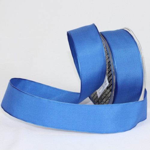 """Royal Blue Solid Wired Craft Ribbon 1.5"""" x 27 Yards - IMAGE 1"""
