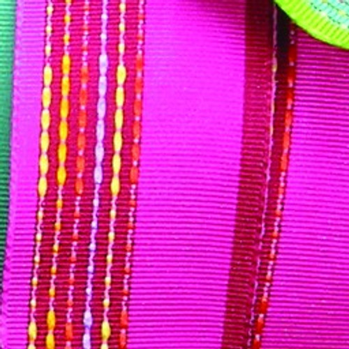 """Pink and Red Striped Wired Craft Ribbon 1.5"""" x 27 Yards - IMAGE 1"""