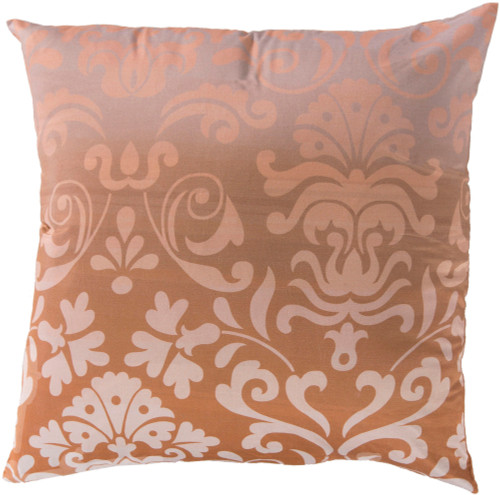 """18"""" Pink and Brown Contemporary Solid Square Throw Pillow - Down Filler - IMAGE 1"""