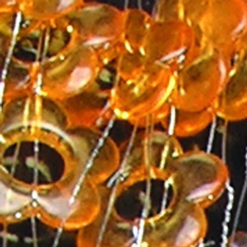 "Orange Decorative Strand of Flowers on Wire 1.25"" x  22 Yards - IMAGE 1"