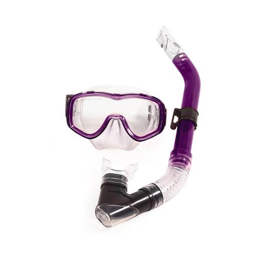 Purple Reef Diver Teen Scuba Mask and Snorkel Dive Set - IMAGE 1