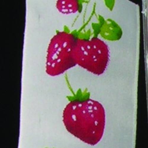 """White and Red Strawberry on the Vine Garden Wired Craft Ribbon 1.5"""" x 27 Yards - IMAGE 1"""