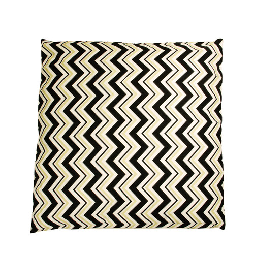 """30"""" Black and Ivory Chevron Over Sized Floor Throw Pillow - IMAGE 1"""