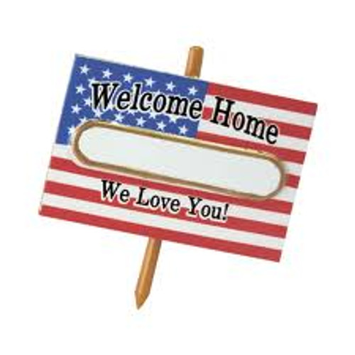 """3"""" American Flag Welcome Home Soldier Christmas Tree Ornament - IMAGE 1"""