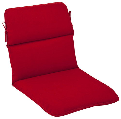 "40.5"" Red Outdoor Patio Furniture High Back Chair Cushion - IMAGE 1"
