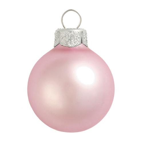 "6ct Pink Matte Glass Christmas Ball Ornaments 4"" (100mm) - IMAGE 1"