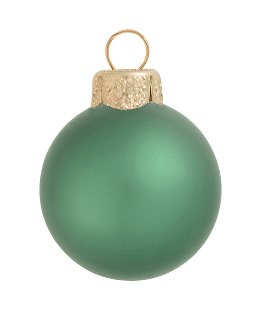 "4ct Soft Green Matte Glass Christmas Ball Ornaments 4.75"" (120mm) - IMAGE 1"