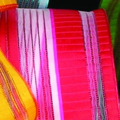"Red Stripe Wired Craft Ribbon 1.5"" x 54 Yards - IMAGE 1"