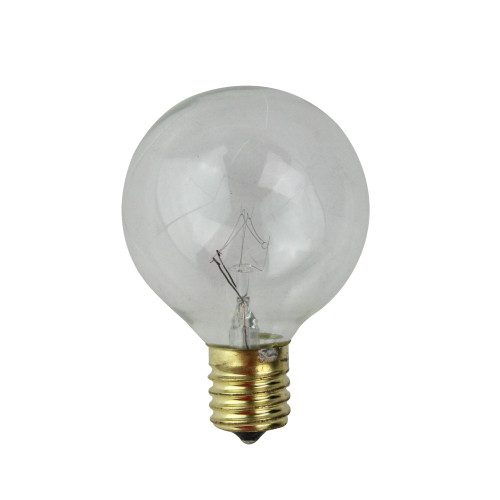 Pack of 4 Transparent Clear G50 Globe Christmas Replacement Bulbs - IMAGE 1