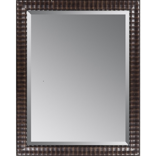 """46"""" Charcoal Finished Wooden Framed Beveled Rectangular Wall Mirror - IMAGE 1"""