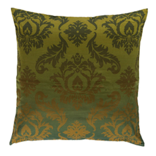 """22"""" Forest Green Square Throw Pillow - Down Filler - IMAGE 1"""