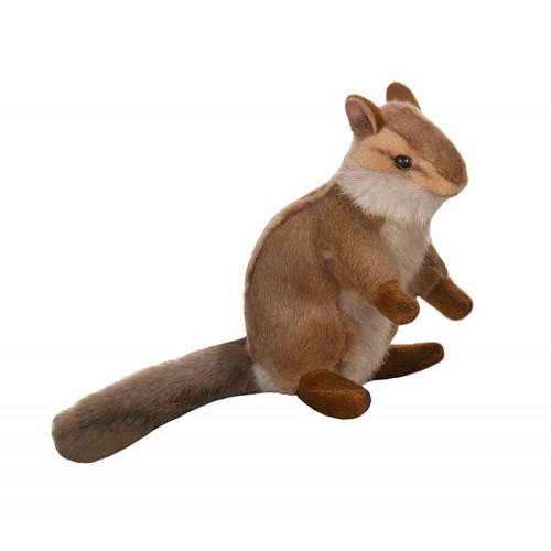 "Set of 4 Brown and White Handcrafted Plush Upright Chipmunk Stuffed Animals 6.25"" - IMAGE 1"