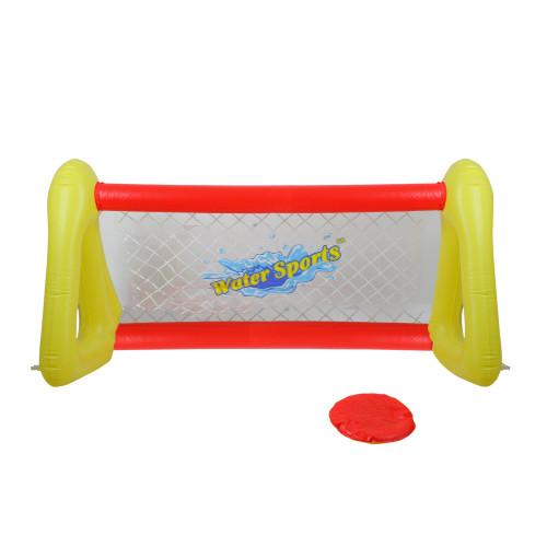 """51"""" Inflatable Red and Yellow Swimming Pool Frisbee Game Set - IMAGE 1"""
