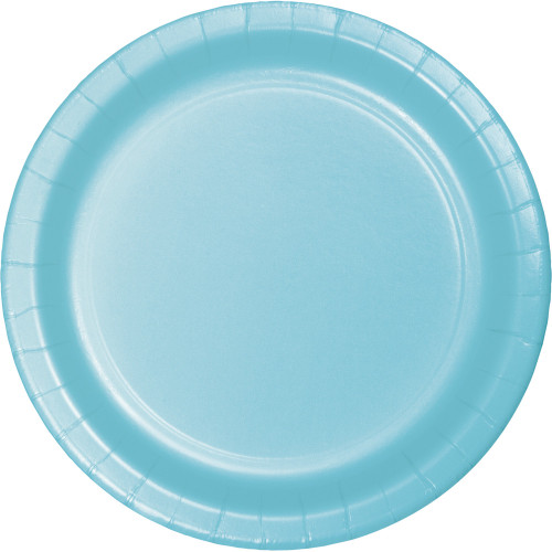"""Club Pack of 240 Pastel Blue Disposable Paper Party Lunch Plates 7"""" - IMAGE 1"""
