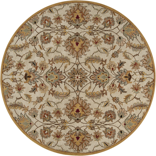 9.75' Taupe Brown and Gray Hand Tufted Wool Area Throw Rug - IMAGE 1