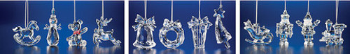 """Club Pack of 48 Clear Icy Assorted Christmas Toy Ornaments 3"""" - IMAGE 1"""