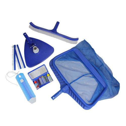 5-Piece Deluxe Pool Cleaning Maintenance and Test Kit Set - IMAGE 1