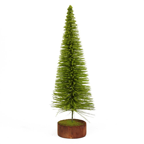 2' Green and Brown Pencil Pine Artificial Village Christmas Tree - Unlit - IMAGE 1