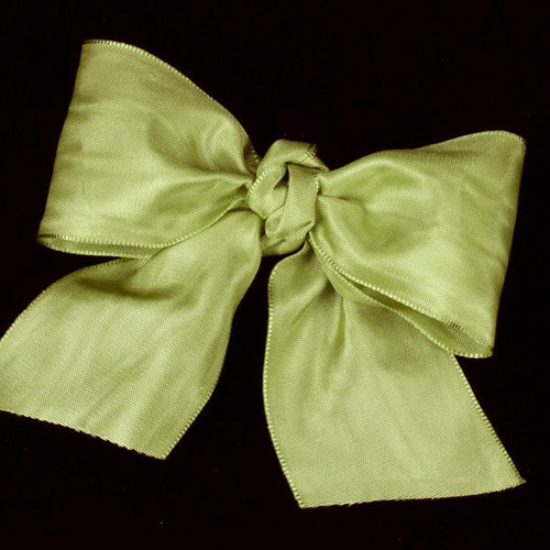 """Chartreuse Green Satin Moire Craft Ribbon 4"""" x 27 Yards - IMAGE 1"""