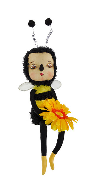"14.5"" Gathered Traditions ""Bea"" the Bumblebee Girl Decorative Spring Display Figure - IMAGE 1"