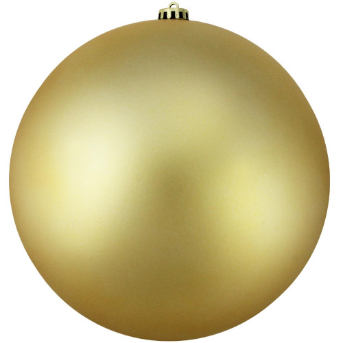 "Vegas Gold Shatterproof Matte Christmas Ball Ornament 10"" (250mm) - IMAGE 1"