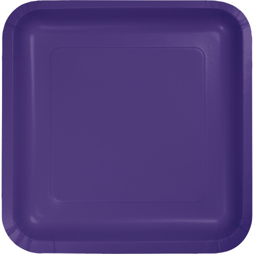 """Pack of 180 Purple Premium Square Paper Party Lunch Plates 7"""" - IMAGE 1"""