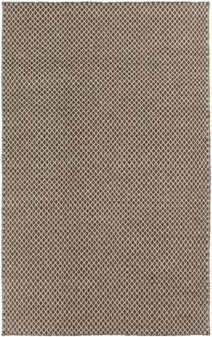 5' x 8' Gray and Brown Hand Woven Wool Throw Rug - IMAGE 1