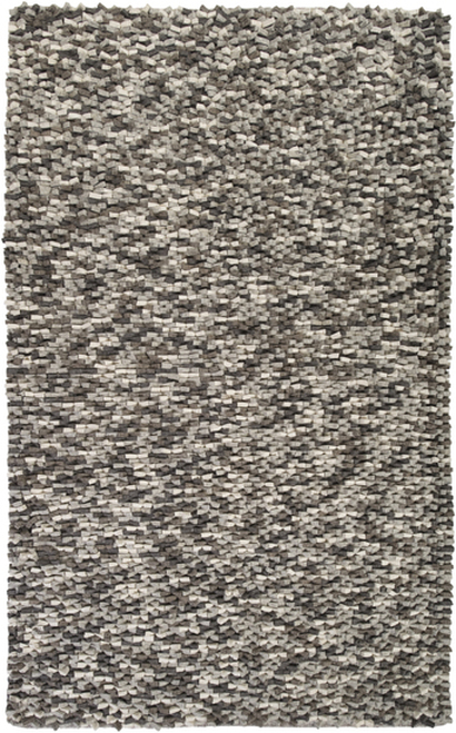 2' x 3' Silver gray Hand Woven New Zealand Wool Area Throw Rug - IMAGE 1