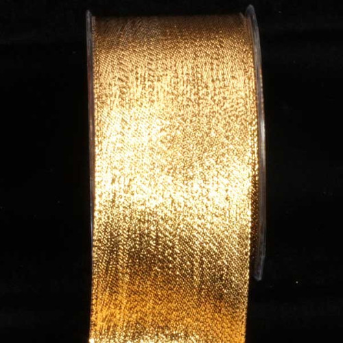 "Shimmering Gold Contemporary Wired Craft Ribbon 2.5"" x 54 Yards - IMAGE 1"