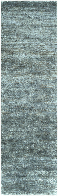 2.5' x 8' Gray Hand-Woven Area Throw Rug Runner - IMAGE 1