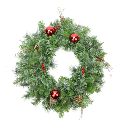 Mixed Pine Artificial Christmas Wreath - 24-Inch, Unlit - IMAGE 1