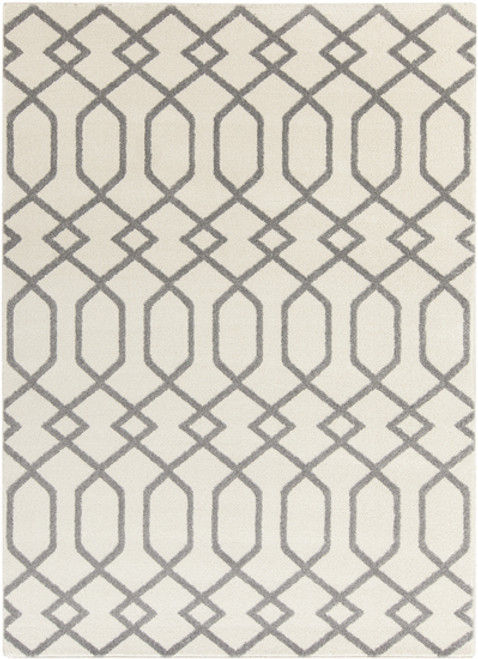 2' x 3' Entwine Passions Ivory White and Gray Rectangular Area Throw Rug - IMAGE 1