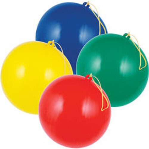 "Club Pack of 96 Multicolor Birthday Party Favor Punch Balloons 8.75"" - IMAGE 1"