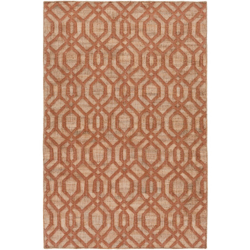 3.25' x 5.25' Bonded Beauty Caramel Brown and Russet Red Hand Woven Area Throw Rug - IMAGE 1