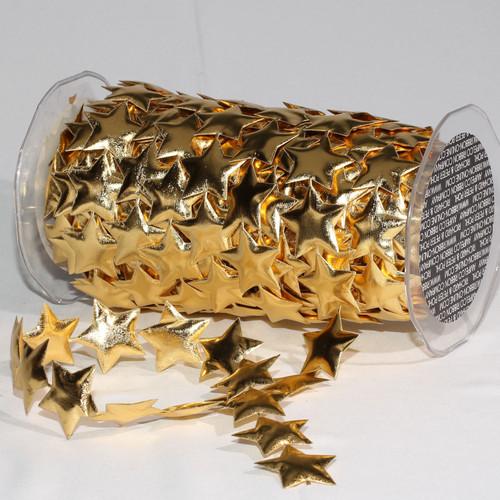 "Gold Fine Lame Stars Craft Ribbon 1.5"" x 20 Yards - IMAGE 1"