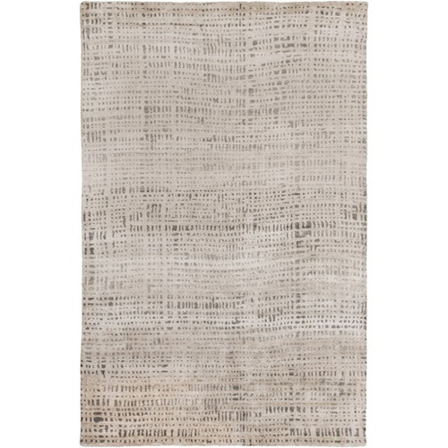8' x 10' Country Race Smoke Gray Hand Knotted Area Throw Rug - IMAGE 1