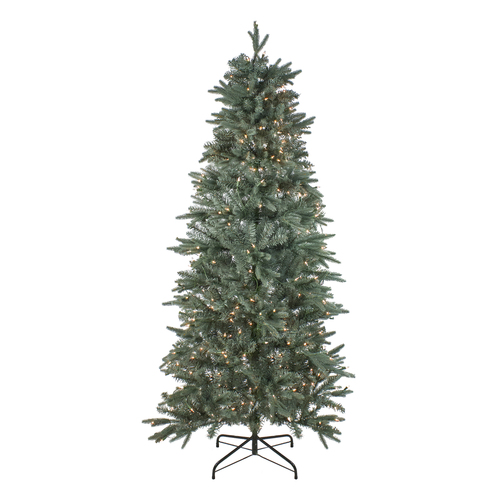 7.5' Pre-Lit Washington Frasier Fir Slim Artificial Christmas Tree - Clear Lights - IMAGE 1