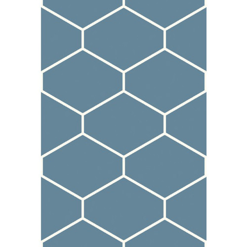 9' x 13' Blue and White Hand Woven Contemporary Rectangular Area Throw Rug - IMAGE 1