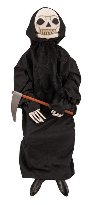 "42"" Black and Gray Dunstan Grim Reaper Halloween Figurine - IMAGE 1"