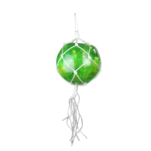 35-Count Green Roped Mini Ball Outdoor Christmas Decor - White Wire - IMAGE 1