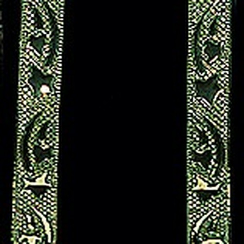 """Green and Gold Galaxy Wired Craft Ribbon 1.5"""" x 40 Yards - IMAGE 1"""
