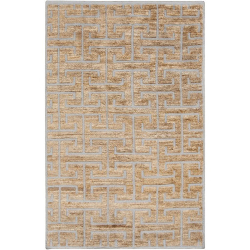 2' x 3' Gray and Brown Hand-Knotted Area Throw Rug - IMAGE 1