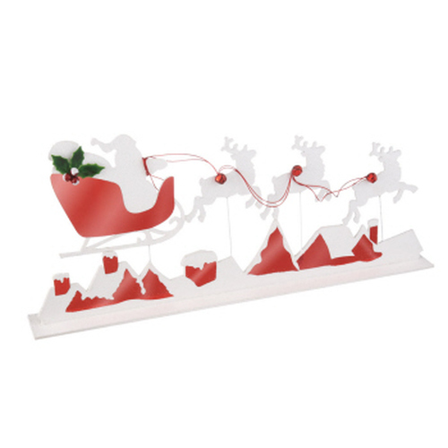 """31"""" Red and White Reindeer Silhouette Tabletop Christmas Decor - IMAGE 1"""