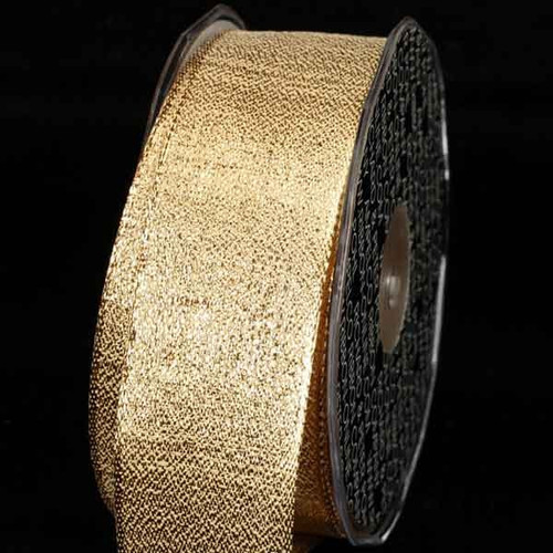 "Metallic Gold ""Pioggia"" Wired Craft Ribbon 2.5"" x 27 Yards - IMAGE 1"