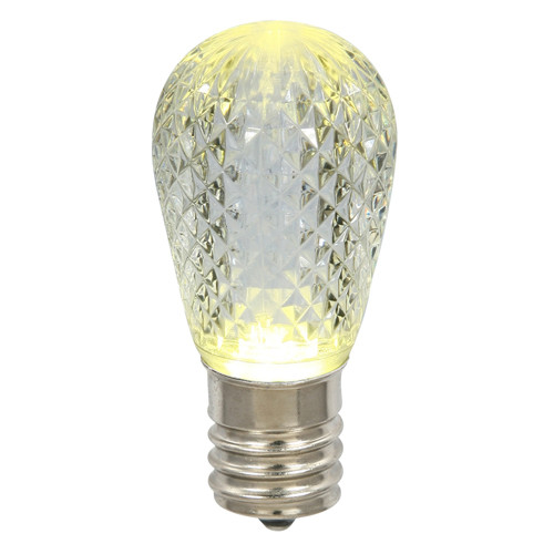 Club Pack of 25 LED Warm Clear Replacement Christmas Light Bulbs - E26 Base - IMAGE 1