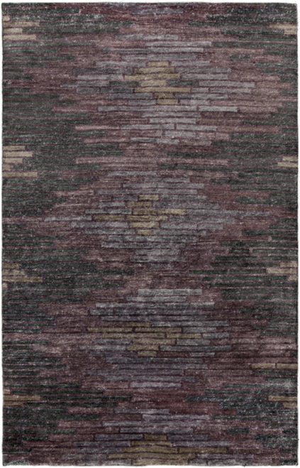 8' x 11' Purple Hand-Knotted Rectangular Area Throw Rug - IMAGE 1