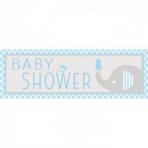 """Pack of 6 Little Peanut Blue and Gray Boy Baby Shower Giant Banners 60"""" - IMAGE 1"""
